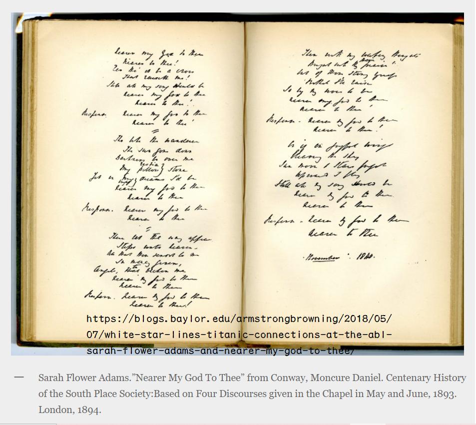 耳聾詩人:撒拉‧芙勞爾‧亞當斯的「更近我主」(下)